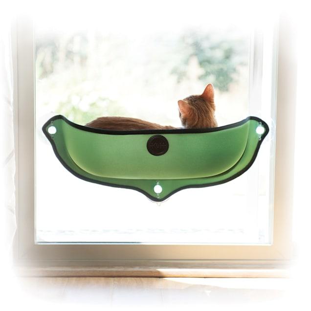 "K&H EZ Mount Green Window Bed Kitty Sill, 27"" L X 11"" W - Carousel image #1"