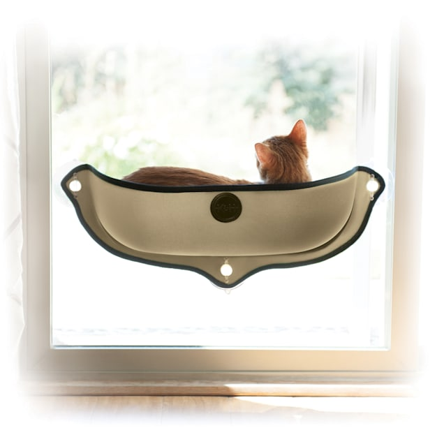 "K&H EZ Mount Tan Window Bed Kitty Sill, 27"" L X 11"" W - Carousel image #1"