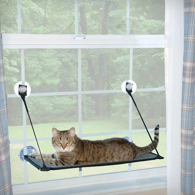 "K&H EZ Mount Grey Window Kitty Sill, 12"" L X 23"" W - Carousel image #1"