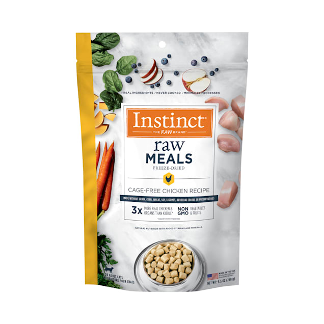 Instinct Raw Freeze-Dried Meals Grain-Free Cage-Free Chicken Recipe Cat Food, 9.5 oz. - Carousel image #1