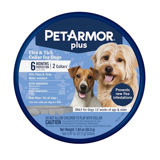 PetArmor Plus Flea & Tick Collar for Dogs, Pack of 2 - Carousel image #1
