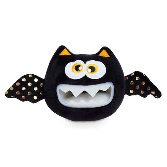 Bootique Bratty Batty Bat Glow-in-the-Dark Halloween Plush Dog Toy, Medium - Carousel image #1