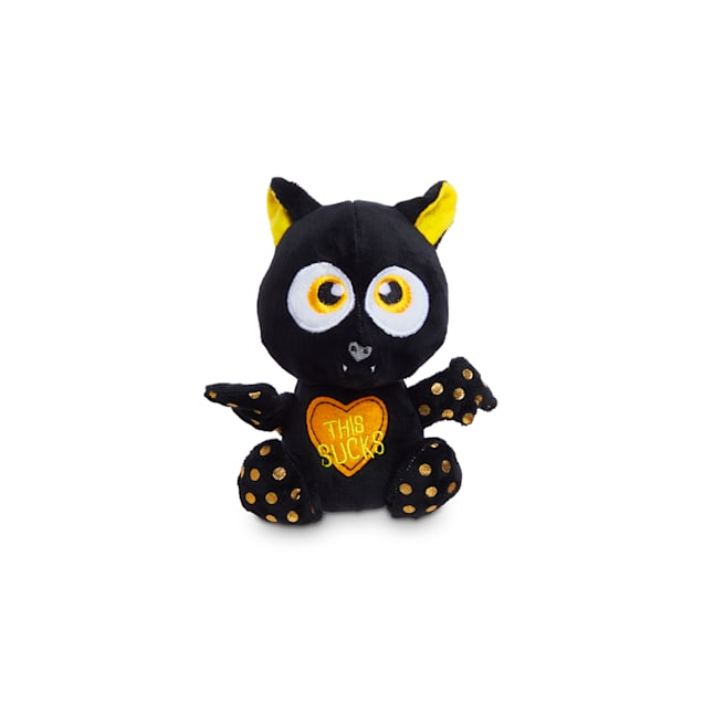 Bootique Bratty Batty Bat Halloween Plush Flattie Dog Toy, Small - Carousel image #1