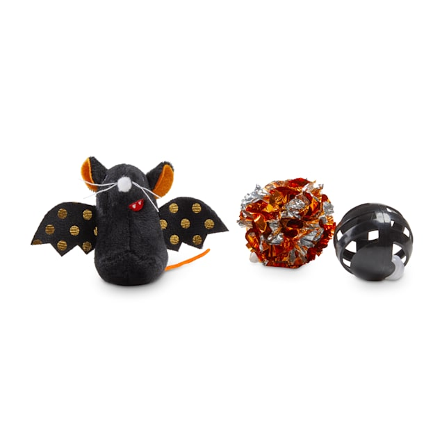 Bootique Bratty Batty Bat Halloween Multipack Cat Toys, Medium - Carousel image #1