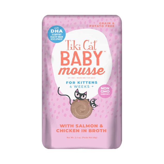 Tiki Cat Velvet Mousse Kitten Salmon Wet Food, 2.4 oz., Case of 12 - Carousel image #1