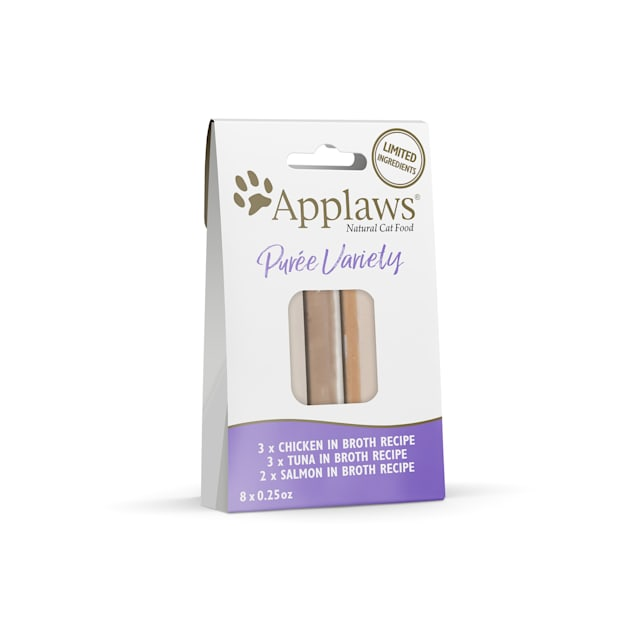 Applaws Natural Puree Multipack Cat Treats, 0.25 oz., Count of 8 - Carousel image #1