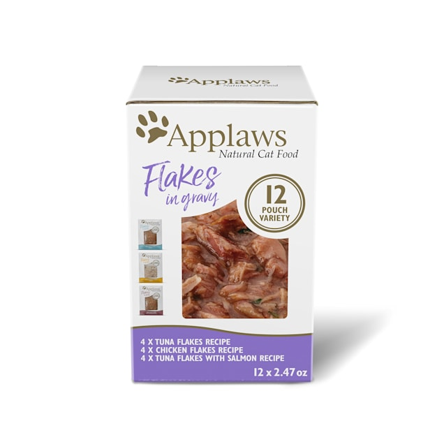 Applaws Natural Variety Pack in Gravy Wet Cat Food, 2.47 oz., Count of 12 - Carousel image #1