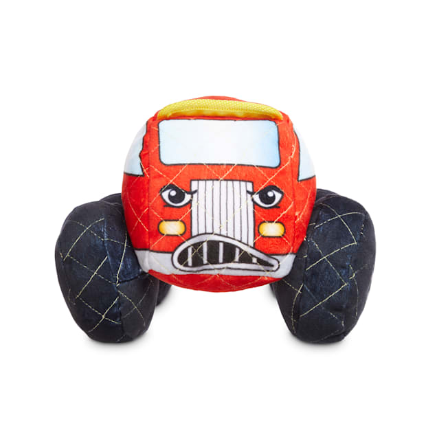 Leaps & Bounds Ruffest & Tuffest Fire Truck Tough Plush Dog Toy with Kevlar Stitching, Large - Carousel image #1
