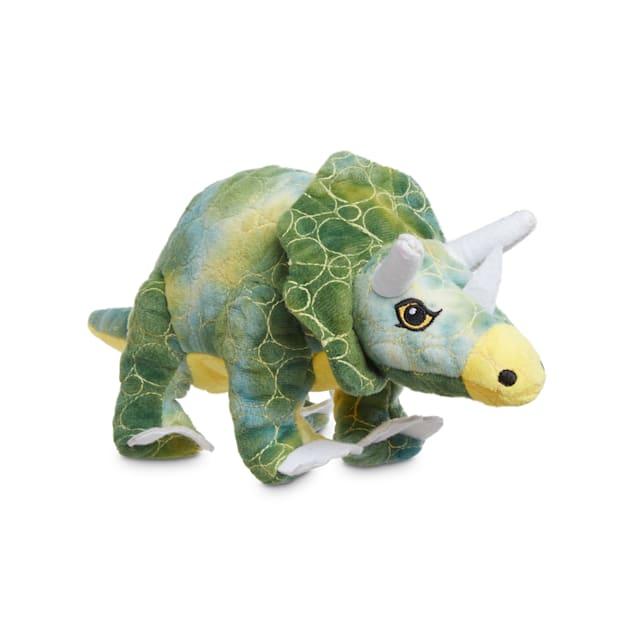 Leaps & Bounds Ruffest & Tuffest Triceratops Tough Plush Dog Toy with Kevlar Stitching, Medium - Carousel image #1