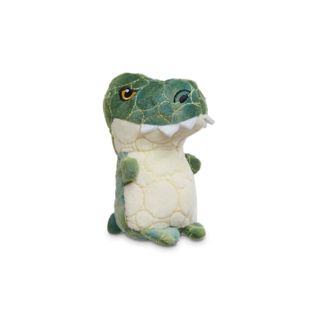 Leaps & Bounds Ruffest & Tuffest T-Rex Tough Plush Dog Toy with Kevlar Stitching, X-Small - Carousel image #1
