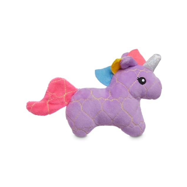 Leaps & Bounds Ruffest & Tuffest Unicorn Tough Plush Dog Toy with Kevlar Stitching, X-Small - Carousel image #1