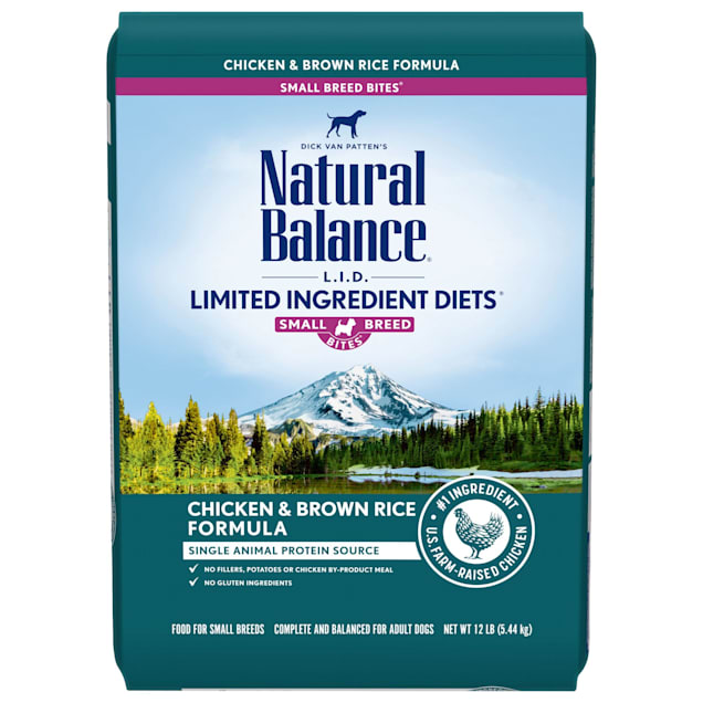 Natural Balance L.I.D. Limited Ingredient Diets Small Breed Bites Chicken & Brown Rice Formula Dry Dog Food, 12 lbs. - Carousel image #1