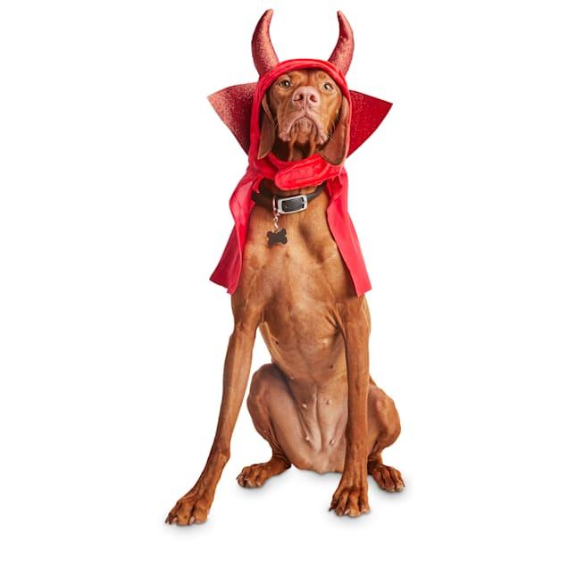 Bootique Rebel Devil Pet Headpiece, Small/Medium - Carousel image #1