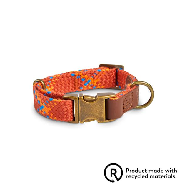 Reddy Rust Plaid Woven Dog Collar, Small - Carousel image #1
