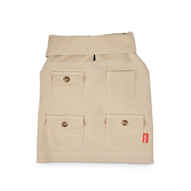 Reddy Khaki Organic Cotton Canvas Dog Shirt Jacket, X-Small - Carousel image #1
