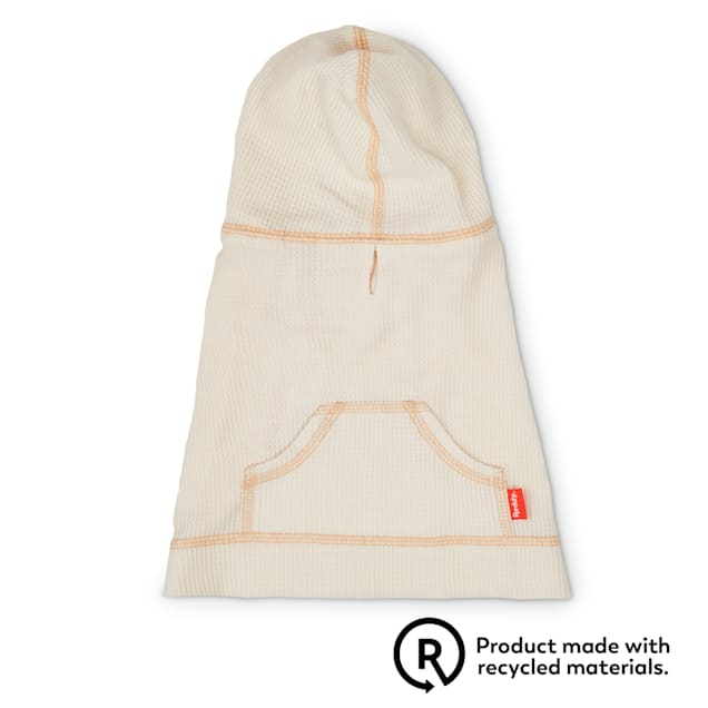 Reddy Ivory Waffle-Knit Dog Hoodie, X-Small - Carousel image #1
