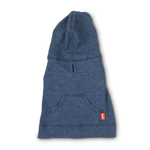 Reddy Navy Waffle-Knit Dog Hoodie, X-Small - Carousel image #1