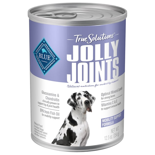 Blue Buffalo True Solutions Jolly Joints Natural Mobility Support Chicken Flavor Adult Wet Dog Food, 12.5 oz., Case of 12 - Carousel image #1