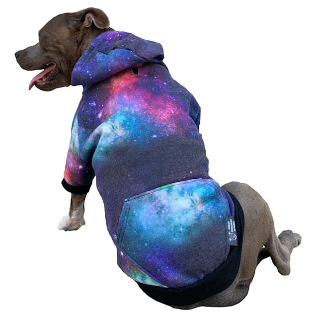 Urban Suburban Apparel Galactic Dog Zip-Up Hoody, Small - Carousel image #1