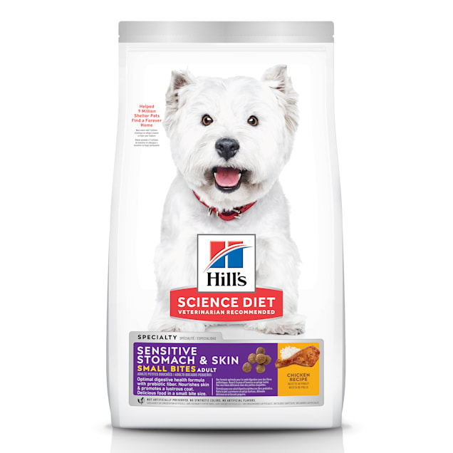 Hill's Science Diet Adult Sensitive Stomach & Skin Small Bites Chicken Recipe Dry Dog Food, 4 lbs., Bag - Carousel image #1