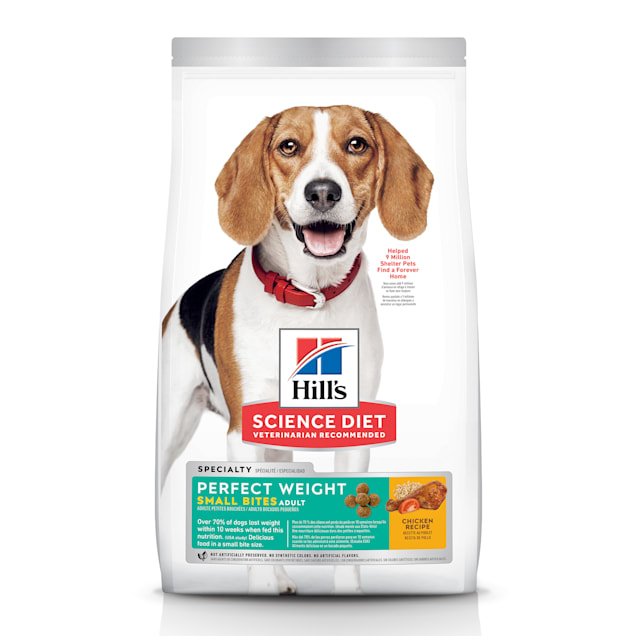 Hill's Science Diet Adult Perfect Weight Small Bites Chicken Recipe Dry Dog Food, 15 lbs., Bag - Carousel image #1