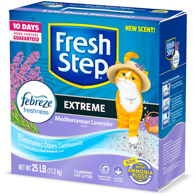 Fresh Step Extreme Odor Control Mediterranean Lavender Scent Cat Litter, 25 lbs. - Carousel image #1