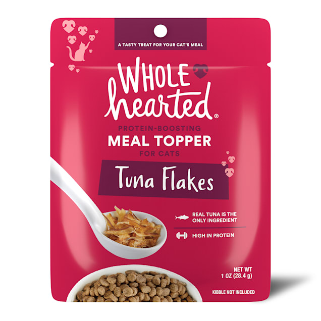 WholeHearted Tuna Flakes Protein-Boosting Dry Cat Meal Topper, 1 oz. - Carousel image #1
