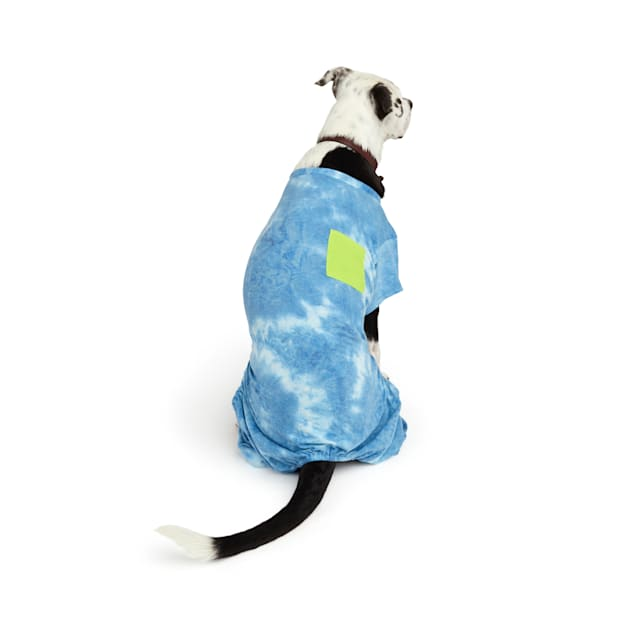 YOULY The Wanderer Blue Tie-Dye Dog Pajamas, XX-Small - Carousel image #1