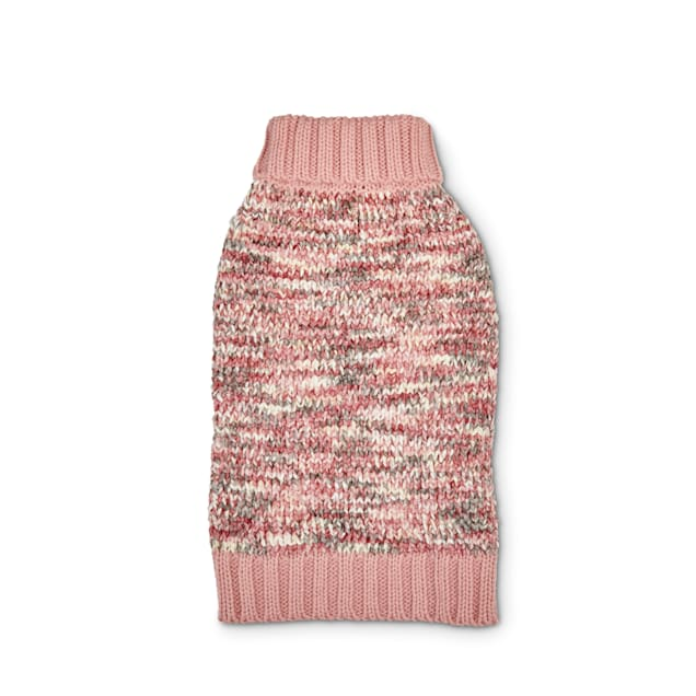 Bond & Co. Pink Chenille Knit Dog Sweater, XX-Small - Carousel image #1