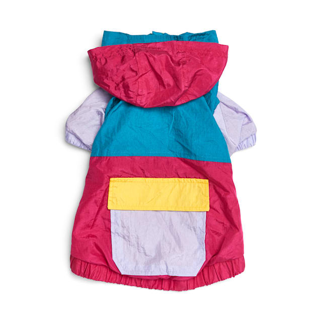 YOULY The Champion Pink Colorblocked Nylon Dog Windbreaker, XX-Small - Carousel image #1