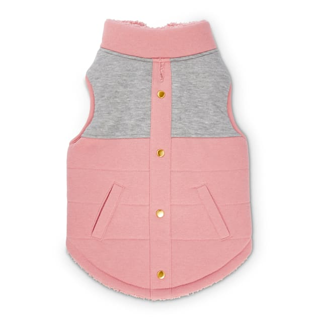Bond & Co. Pink Colorblocked Dog Vest, XX-Small - Carousel image #1