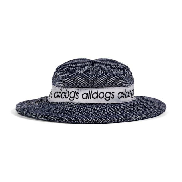 YOULY The Throwback Blue Faux-Denim Dog Bucket Hat, X-Small/Small - Carousel image #1