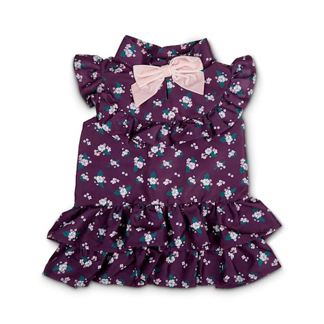 Bond & Co. Purple & Multicolor Floral-Print Dog Dress, XX-Small - Carousel image #1