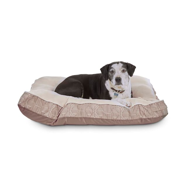EveryYay Essentials Snooze Fest Brown Rectangle Lounger Dog Bed, 40