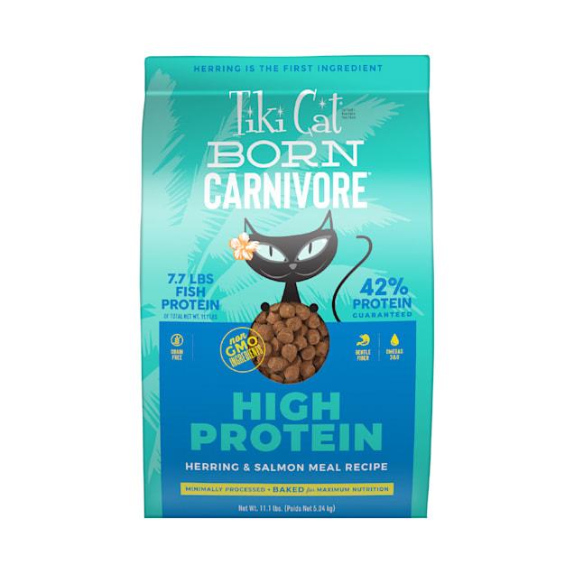 Tiki Cat Born Carnivore Herring & Salmon Dry Food, 11.1 lbs. - Carousel image #1