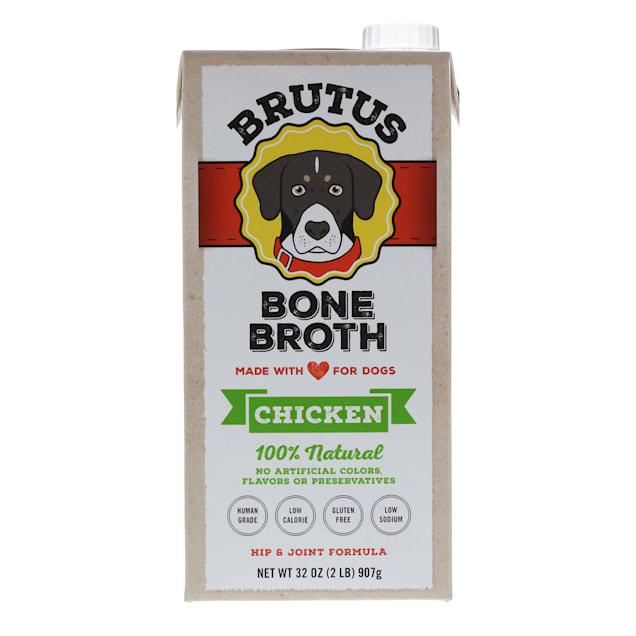 Brutus Bone Broths Chicken Bone Broth Wet Dog Food, 32 oz. - Carousel image #1
