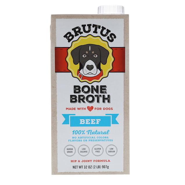 Brutus Bone Broths Beef Bone Broth Wet Dog Food, 32 oz. - Carousel image #1
