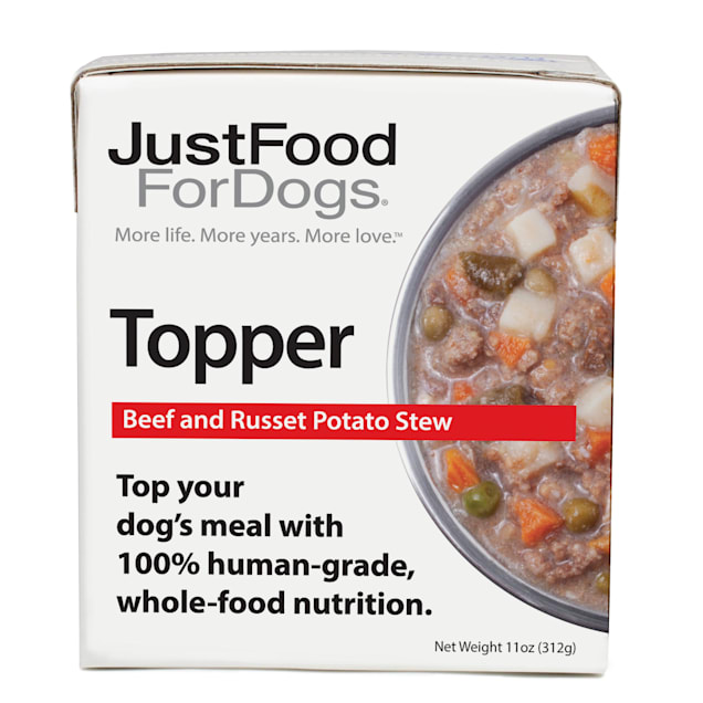 JustFoodForDogs Topper Beef & Russet Potato Stew Wet Dog Food, 11 oz., Case of 12 - Carousel image #1