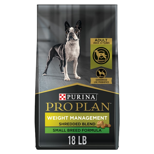 Purina Pro Plan Specialized Weight Management Shredded Blend With Probiotics Small Breed Dry Dog Food, 18 lbs. - Carousel image #1