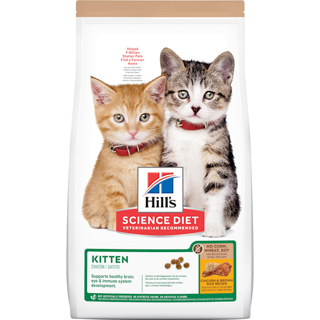 Hill's Science Diet No Corn, Wheat, Soy Chicken Flavor Dry Kitten Food, 6 lbs. - Carousel image #1