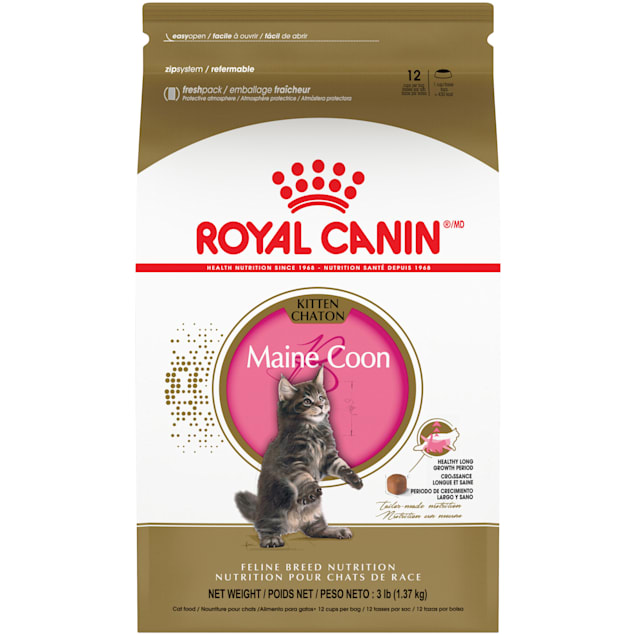 Royal Canin Maine Coon Breed Dry Kitten Food, 3 lbs. - Carousel image #1
