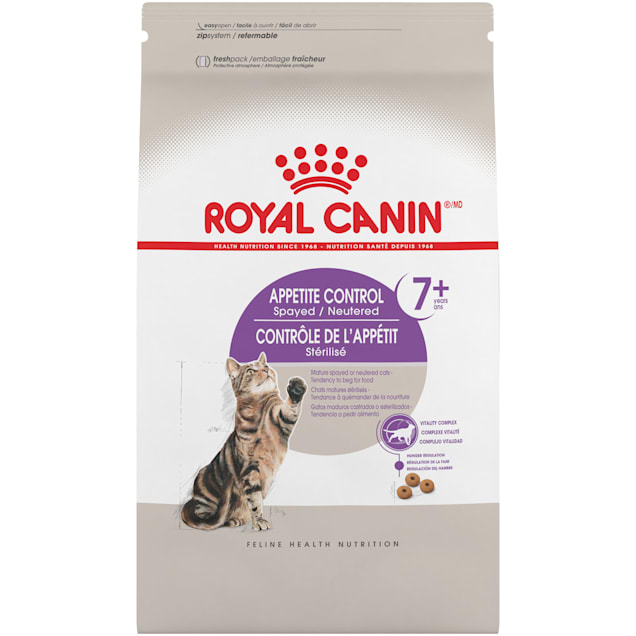 Royal Canin Appetite Control Spayed/Neutered 7+ Adult Dry Cat Food, 6 lbs. - Carousel image #1
