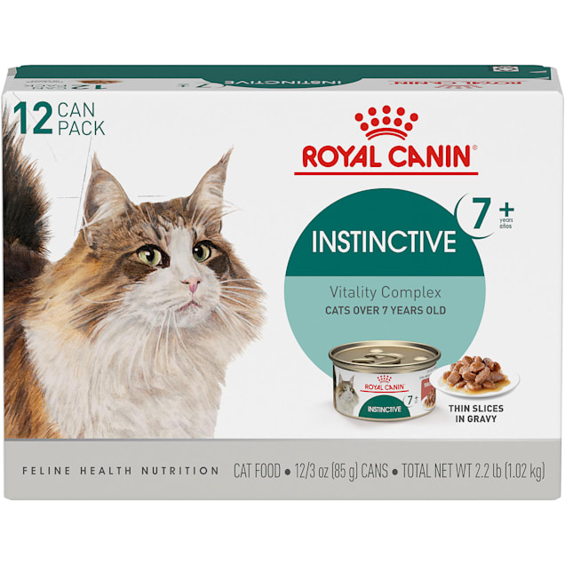 Royal Canin Instinctive 7+ Years Thin Slices in Gravy Adult Wet Cat Food, 3 oz., Count of 12 - Carousel image #1