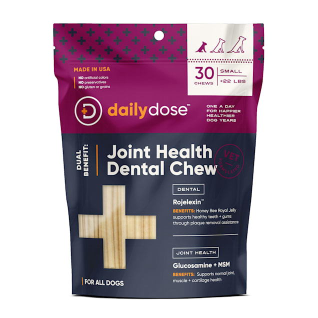 dailydose Dual Benefit Dental + Joint Health Chews for Small Dogs, 11.9 oz., Count of 30 - Carousel image #1