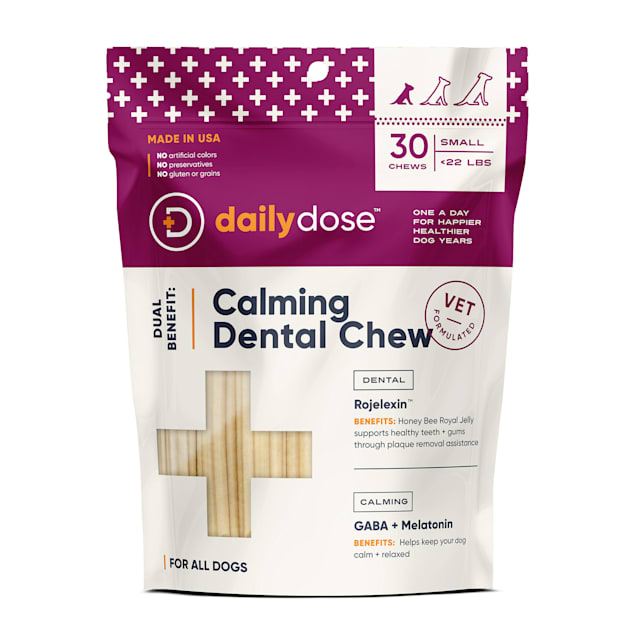 dailydose Dual Benefit Dental + Calming Chews for Small Dogs, 11.9 oz., Count of 30 - Carousel image #1