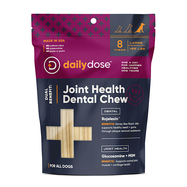 dailydose Dual Benefit Dental + Joint Health Chews for Large Dogs, 11.85 oz., Count of 8 - Carousel image #1