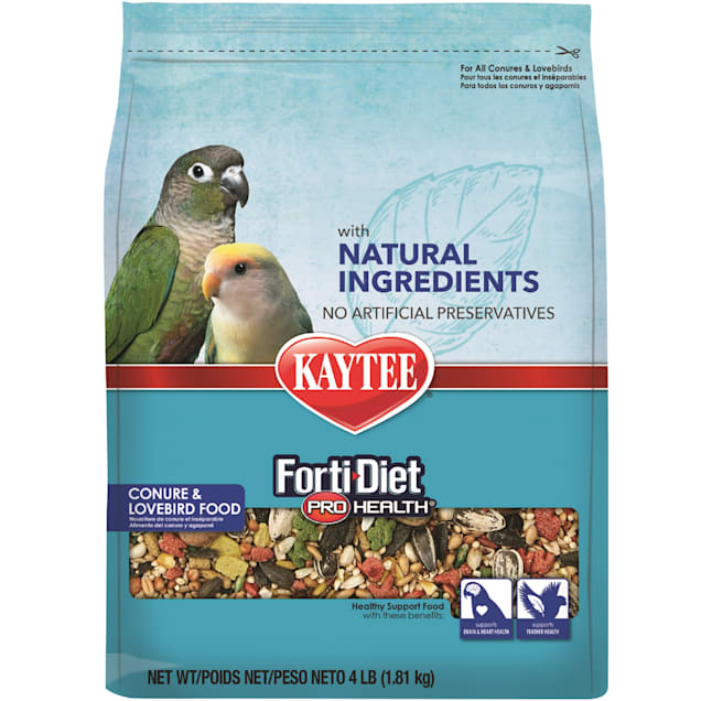 Kaytee Forti-Diet Pro Health with Natural Colors Conure and Lovebird Food, 4 lbs. - Carousel image #1