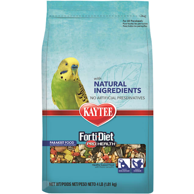 Kaytee Forti-Diet Pro Health with Natural Colors Parakeet Food, 4 lbs. - Carousel image #1