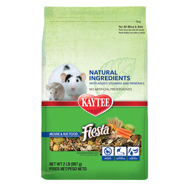 Kaytee Fiesta Naturals Mouse and Rat Food, 2 lbs. - Carousel image #1