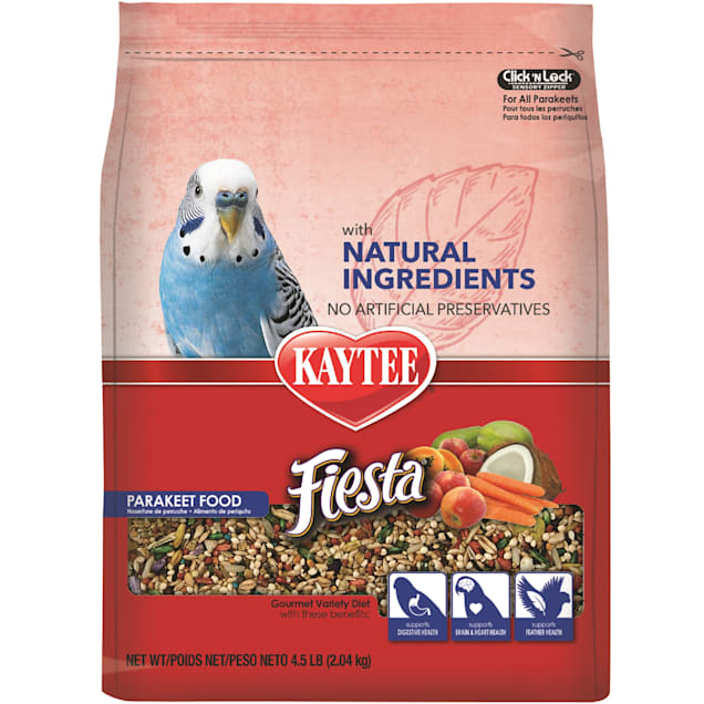 Kaytee Fiesta with Natural Colors Parakeet Food, 4.5 lbs. - Carousel image #1